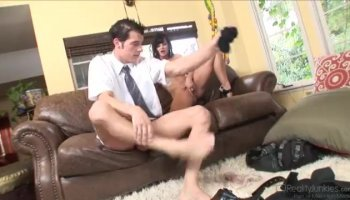 Sexy Joi maid in uniform teases and toys her twat