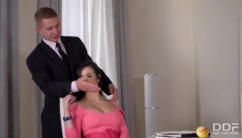 Petite Jenna Marie in stand and carry sex