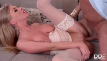 Rough and rear banging for adorable hottie