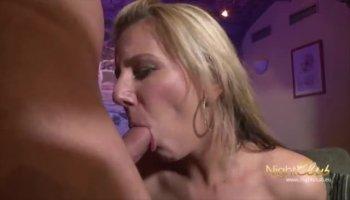 Blonde Anita Hengher masturbates and licks fingers